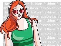 Free Fashion girl Illustration