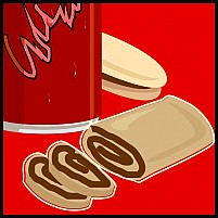 Free Meat Roll And Tin Illustration
