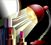 Free Cosmetic items Illustration