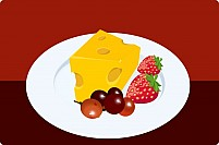 Free Fruits and cheese Illustration