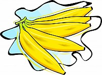 Free five bananas Illustration