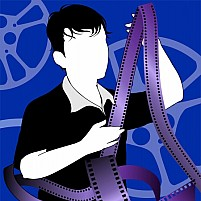 Free Boy With Film Reel Illustration