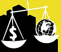Free Dollar And Earth In Common Balance