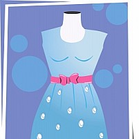 Free Frock in a Stand Illustration