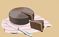 Free Cake and knife Illustration