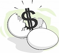 Free Eggs Broken And Dollar Illustration