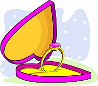 Free Ring In A Heart Shape Box Illustration