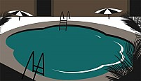 Free Swimming Pool With Background Illustration
