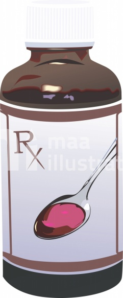 Free Medical Bottle with Cover Illustration