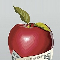 Free Apple In The Dollar Con Illustration