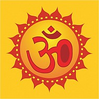 Free Om In Decorated Yellow Illustration
