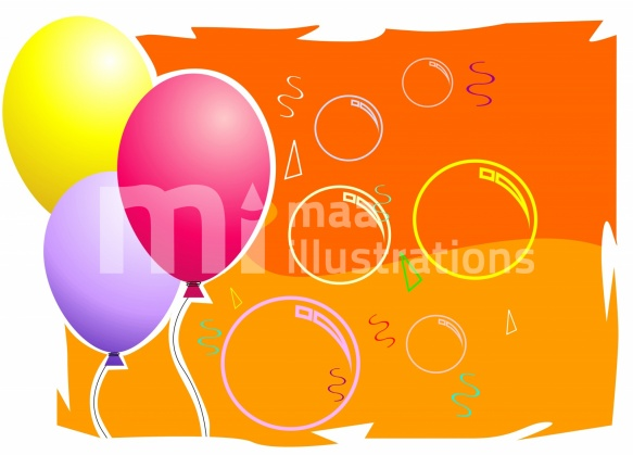 Free balloons in group Illustration