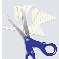 Free Scissors And Paper Pieces Illustration