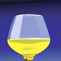 Free wine in the glass Illustration Of