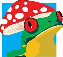 Free A frog and mushroom