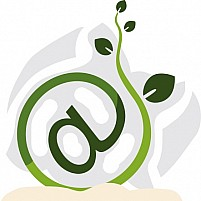 Free Internet Symbol With Plant Illustration