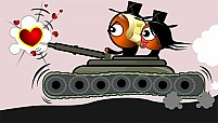 Free Girl And Boy In Battle Tank