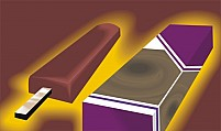 Free Chocolate Bar With Packet Illustration