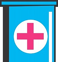 Free  test tube with red cross symbol Illustration