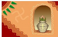 Free Divine Pot In A Wall Illustration
